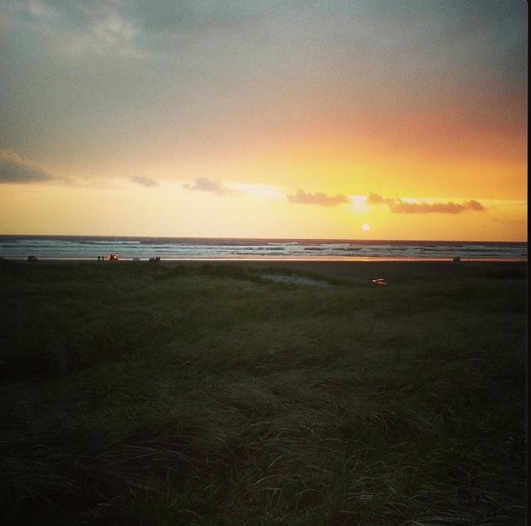 Sunset Saturday beforeEaster