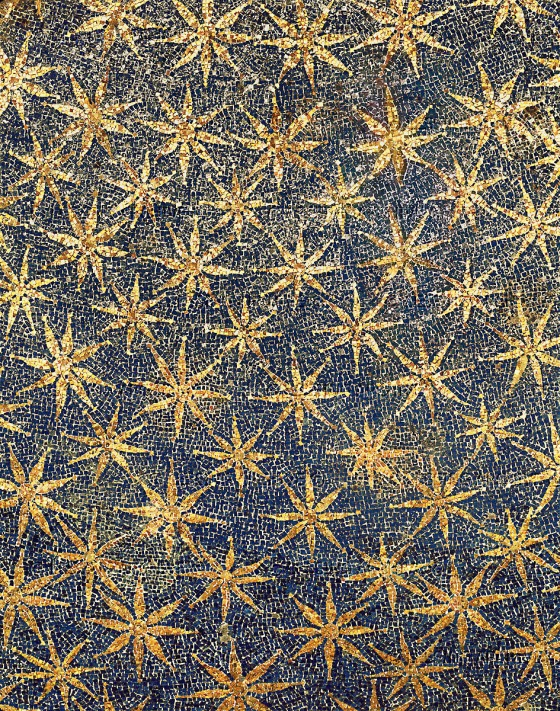 The stars on the ceiling of the vault. Mosaic (mid 5th)