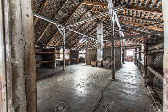 Inside of a barracks of the Nazi concentration camp Auschwitz Birkenau